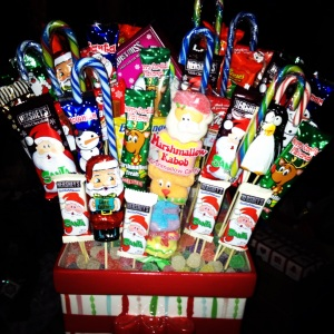 One of DH's sisters made these awesome candy presents!